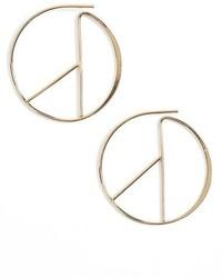 Sole Society Linear Hoop Earrings