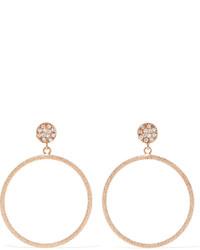 Carolina Bucci Looking Glass 18 Karat Rose Gold Diamond Earrings