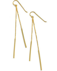 Lord & Taylor 18k Gold Over Sterling Silver Linear Drop Earrings