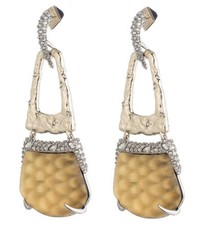 Alexis Bittar Lucite Crystal Accent Drop Earrings