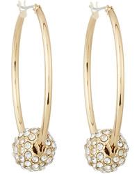 Lydell NYC Fireball Hoop Earrings Gold