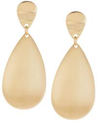 Lydell NYC Golden Double Teardrop Earrings