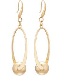 Lydell NYC Golden Oval Swivel Drop Earrings