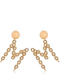 Moschino M Metal Chain Earrings