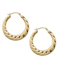 Macy's 10k Gold Earrings Twist Hoop Earrings