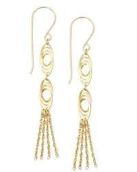 Macy's 14k Gold Earrings Link Tassel Drop Earrings