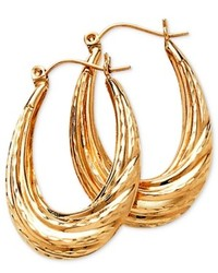 Macy's 14k Gold Oval Hoop Earrings