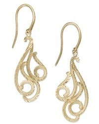 Macy's 14k Gold Swirl Chandelier Earrings