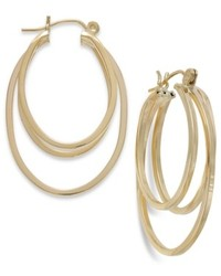 Macy's 14k Gold Triple Hoop Earrings