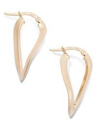 Macy's 14k Rose Gold Earrings Wave Hoop Earrings