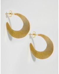 Made Cresent Hoop Earrings