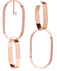 Maison Margiela Rose Gold Plated Crystal Earrings One Size