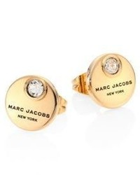 Marc Jacobs Mj Coin Crystal Stud Earrings