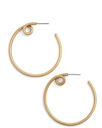 Marc Jacobs Twisted Hoop Earrings