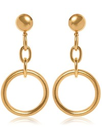 Marni Circle Gold Colored Brass Clip Earrings