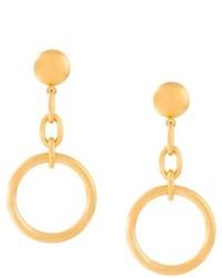 Marni Circular Clip On Drop Earrings