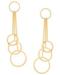 Marni Rod And Hoop Drop Earrings