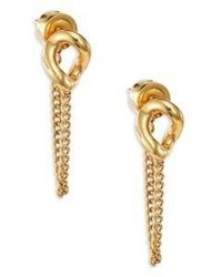 Michael Kors Michl Kors Autumn Luxe Curb Link Chain Stud Earringsgoldtone