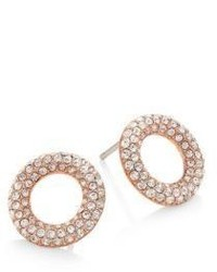 Michael Kors Michl Kors Brilliance Pave Crystal Stud Earringsrose Goldtone