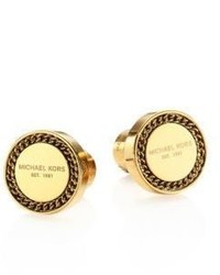 Michael Kors Michl Kors Logo Plaque Curb Chain Stud Earrings