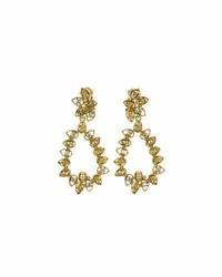 Oscar de la Renta Milgrain Petal Hoop Clip On Earrings