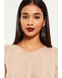 Missguided Gold Double Hoop Earrings