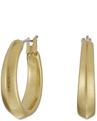 Lauren Ralph Lauren Modern Leaves Small Gold Hoop Earrings