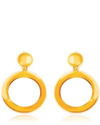 Moschino Hoop Printed Neoprene Clip On Earrings