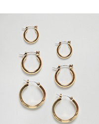 Glamorous Multipack Gold Hoop Earrings