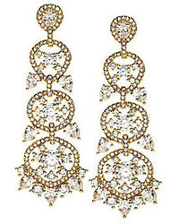 Nadri Cz Chandelier Statet Earrings