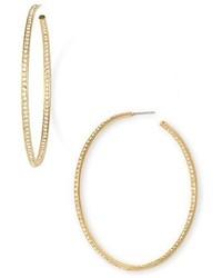 Nadri Pave Inside Out Hoop Earrings