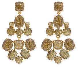 Kate Spade New York Accessories Gold Glitter Chandelier Earrings