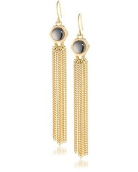 Kenneth Cole New York Modern Status Gold Tone Bead And Multi Chain Linear Drop Earrings