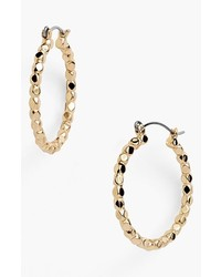 Nordstrom Bead Hoop Earrings Gold