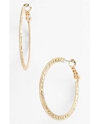 Nordstrom Textured Hoop Earrings Gold