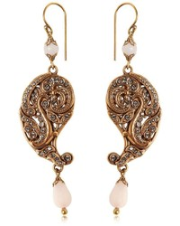 Etro Paisley Drop Earrings W Crystals