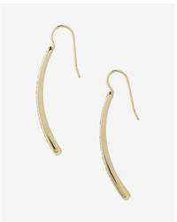 Express Pave Metal Bar Earrings