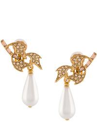 Oscar de la Renta Pearl Drop Earrings