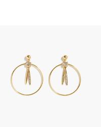 J.Crew Pendulum Hoop Earrings