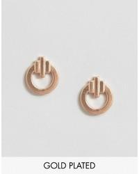 Pieces Julie Sandlau Rose Gold Plated Jane Stud Earrings
