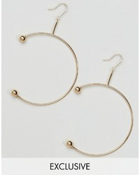 Reclaimed Vintage Piercing Open Hoop Earrings