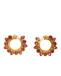 Versace Pink Crystal Jungle Medusa Earrings
