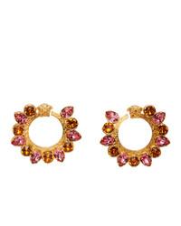 Versace Pink Crystal Jungle Medusa Earrings