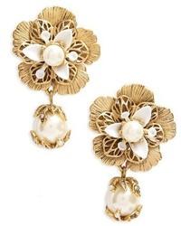 Marchesa Pure Petals Drop Earrings