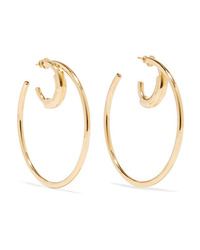 Chloé Reese Gold Tone Hoop Earrings
