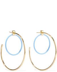 Elizabeth and James Renee Gold Plated Acetate Hoop Earrings