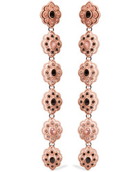 Gucci Resin Crystal And Faux Pearl Clip Earrings Rose Gold
