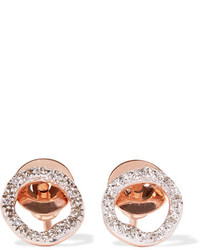 Monica Vinader Riva Circle Rose Gold Vermeil Diamond Earrings One Size