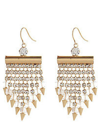 River Island Gold Tone Rhinestone Spike Statet Earrings