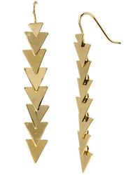 Robert Lee Morris Soho Luxe Goldtone Triangle Linear Earrings